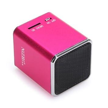 Amazon.com: Kingzer Mini Altavoz Portátil Tarjeta Micro SD ...