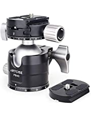 Low Profile Ball Head 360 Rotating Panoramic Tripod Head Professional Aluminium Alloy Metal Ballhead with 2 Arca Swiss Quick Release Plates Max Loading 44lbs/20kg (40mm Ball Diameter)