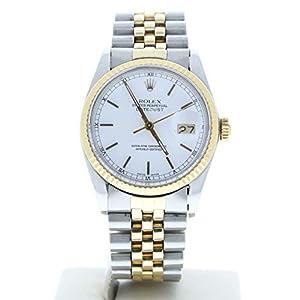 Best Epic Trends 415JqSsDDpL._SS300_ Rolex Men's Datejust 16013 Jubilee Band White Stick Dial 18k Gold Fluted Bezel (Certified Preowned)