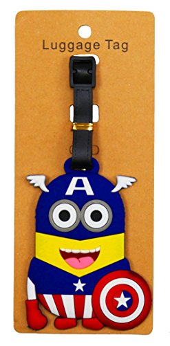 REINDEAR Heavy Duty Baggage Luggage Tag US Seller (Captain America Minion)