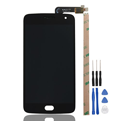 HYYT Replacement for Motorola MOTO G5 Plus XT1681 XT1682 XT1683 LCD Screen Replacement LCD Display and Touch Screen Digitizer Glass Replacement Full Assembly(black)