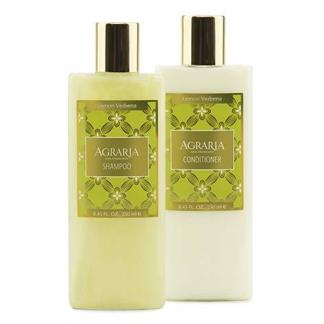 Agraria Premium Aromatherapy Lemon Verbena Shampoo and Conditioner Bundle (2 pack) (Verbena Aromatherapy)