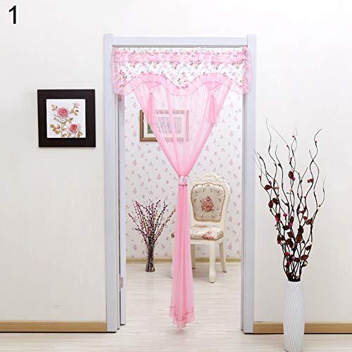millet16zjh Door Curtain,Anti Mosquito Hands-Free Window Door Screen Curtain Summer Closing Mesh Net Pink 1
