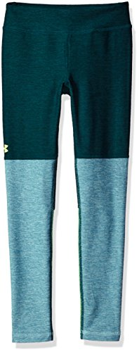 Under Armour Girls' Elevated Training Plush Leggings,Arden Green (919)/Quirky Lime, Youth -