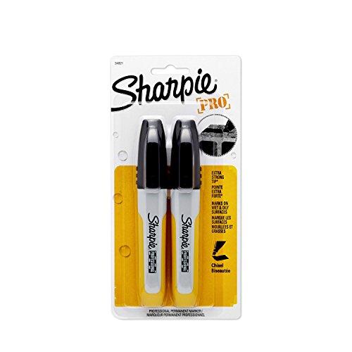 (Sharpie 34821PP Professional Chisel Tip Permanent Marker, Black, 2-Pack)