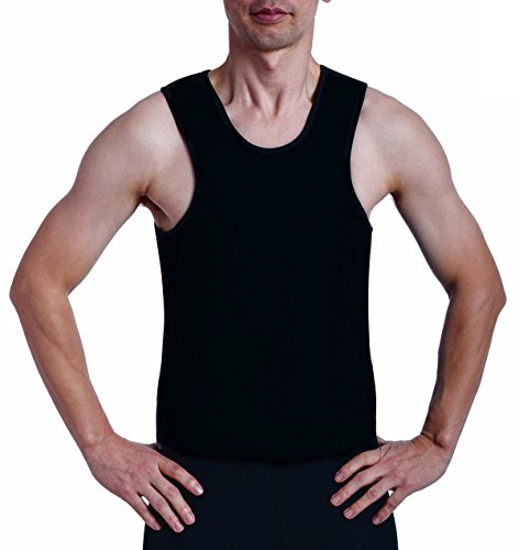 ValentinA Mens Slimming Sweat Vest Hot Neoprene Sauna Shirt Body Shapers for Weight Loss