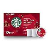 Starbucks Holiday Blend Medium Roast Single-Cup Coffee for Keurig Brewers, 6 Boxes of 10 (60  total K-Cup pods)