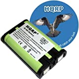 HQRP Phone Battery for Panasonic KX-TG3520ME, KX-TG3521, KX-TG3521BX, KX-TG3521LA, KX-TG3521ME, KX-TG602x Series, KX-TG3521TW Cordless Telephone plus Coaster, Office Central