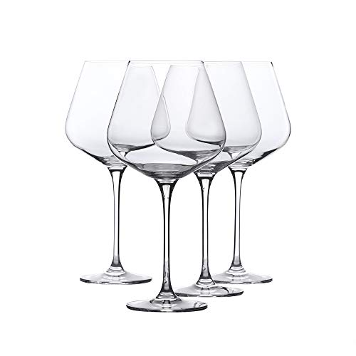 Crystal Wine Lead Glass (Red Wine Glasses - Crystal Glass - Lead Free - Wine Glasses Set of 4 (29 Ounce))