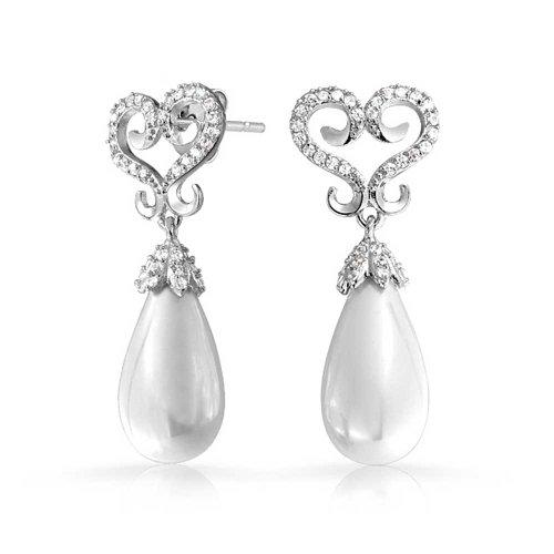earl Rhodium Plated Omega Earrings ()