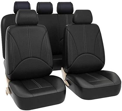 WeiXi Car Seat Covers Universal Fit Full Set Seat Protector PU for Kids Women Men Comfortable Breathable Fits Most Cars Truck SUV or Van