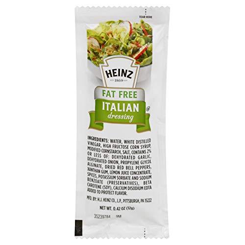 Heinz Fat Free Italian Dressing Single Serve (0.42 oz Packets, Pack of 200)