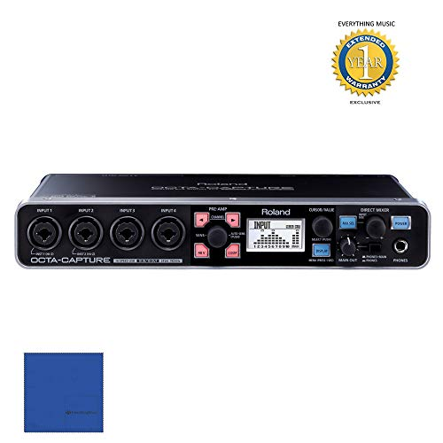 Roland OCTA-CAPTURE - High-Speed USB Audio Interface with Microfiber and 1 Year EverythingMusic Extended Warranty