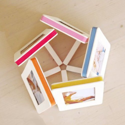 sandwich photo frame color polaroid 5 pack instax film size simple light paper frame deco color. Black Bedroom Furniture Sets. Home Design Ideas