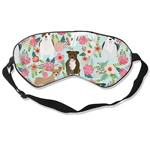 Sleep Mask Pack of 1, Lightweight and Comfortable, Super Soft Eye Masks for Sleeping, Shift Work, Nap, Night Blindfold Eyeshade for Men and Women (Floral Pitbull)