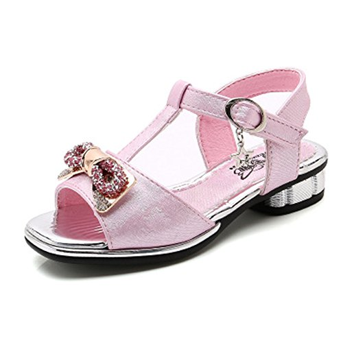 Girls Summer Sandals Kids Baby Crystal Flower Beach Sandals Princess Shoes (Pink-0234/2.5 M US Little (Pretty Little Pirate Infant Girl)
