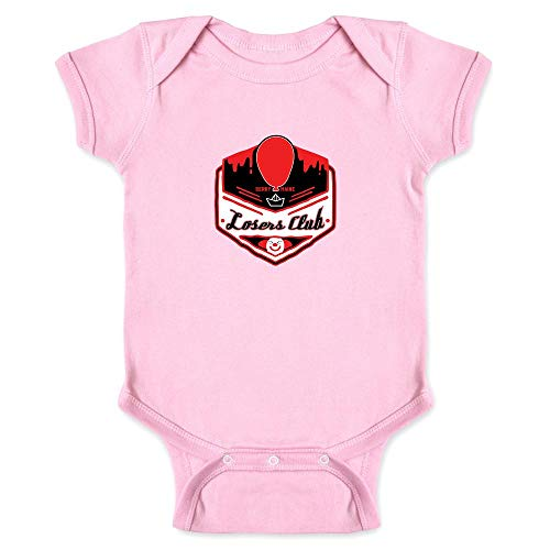 Pop Threads Losers Club Derry Maine Logo Horror Halloween Pink 18M Infant Bodysuit