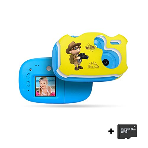Chranto Lucky 7 ! ! Kids Digital Camera 1.44in Digital Creative DIY for Kids Anti-Fall with 8GB