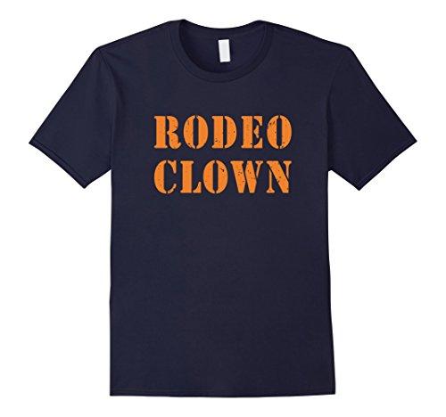 Rodeo Clown Costume (Mens Rodeo Clown Halloween T-Shirt Small Navy)