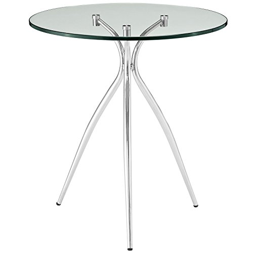 Modway Moxy Glass Top Side Table, Clear