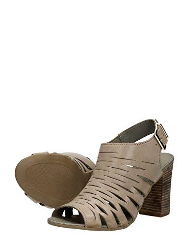 Choizz Damen Sandalen mit Absatz Beige