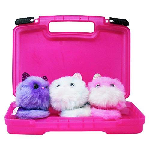 Life Made Better Sturdy Toy Storage Carrying Case, Compatible with Pomsies, Holds 3-5 Interactive Toys, Pink
