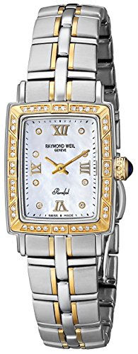 18k Diamond Wrist Watch - Raymond Weil Women's 9740-STS-00995 Parsifal 18k Gold-Plated Watch with Diamonds