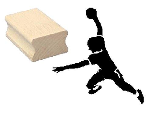 Stempel Holzstempel Motivstempel « HANDBALLER » Scrapbooking - Embossing Sport Handball Ballsport
