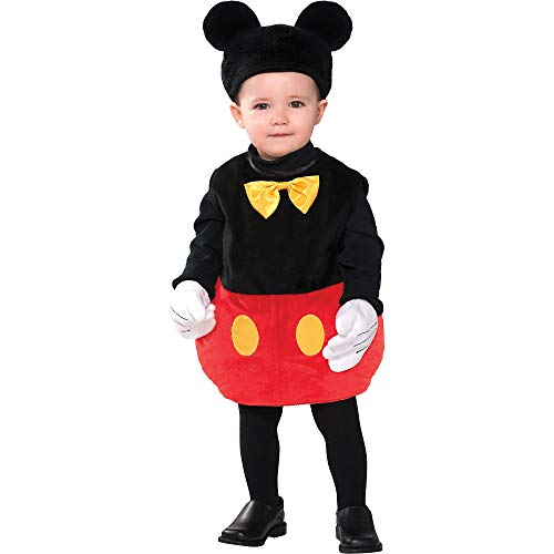 Costumes USA Mickey Mouse Costume for Babies, Size 6-12 Months, Includes a Bodysuit, a Hat with Ears, and Gloves]()