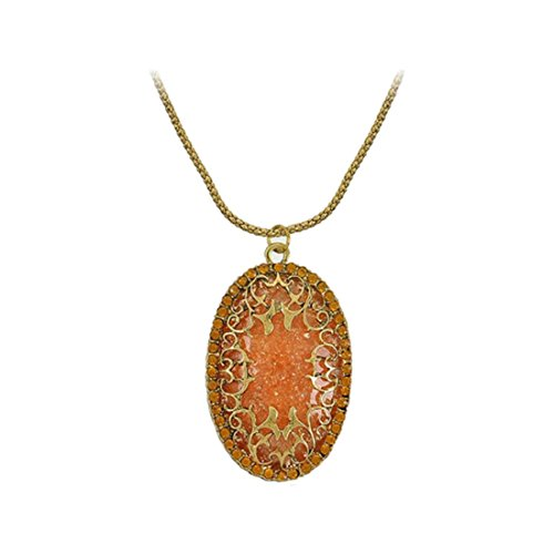 Amber Rhinestone Necklace - 2