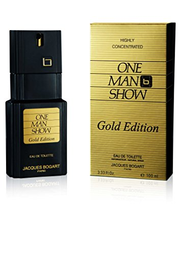 Jacques Bogart One Man Show Eau De Toilette Spray (Gold Edition) for Men, 3.33 Ounce (De Spray Toilette Eau Gold)
