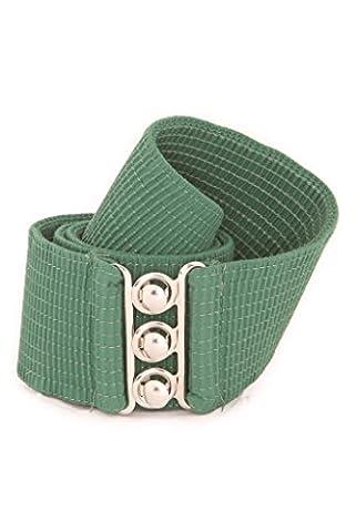 Malco Modes Wide Elastic Cinch Waist Belt Stretch Belt for Women, Plus Sizes Cypress - Eyelet Belt
