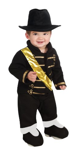 Michael Jackson Costume For Toddler (Michael Jackson Ez-On Romper Costume, Black, Newborn)