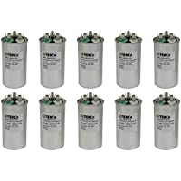 TEMCo 10 LOT Dual Run Capacitor RC0140 - 30/5 mfd 370 V 440 V VAC volt 30+5 uf AC Electric Motor HVAC