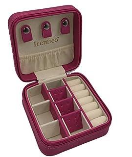 Amazoncom Vlando Small Travel Jewelry Box Organizer Faux Leather