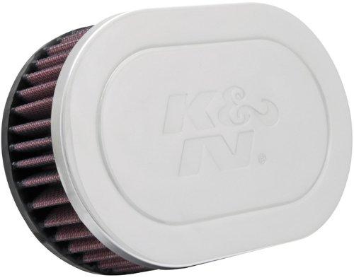 K&N RC-5010 High Performance Universal Clamp-on Chrome Air Filter