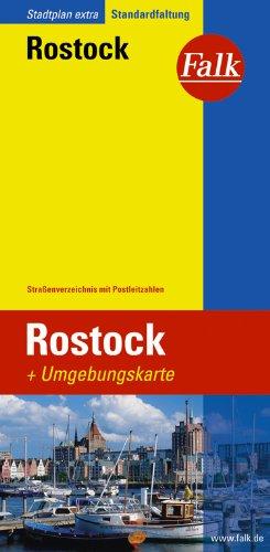 Falk Stadtplan Extra Standardfaltung Rostock