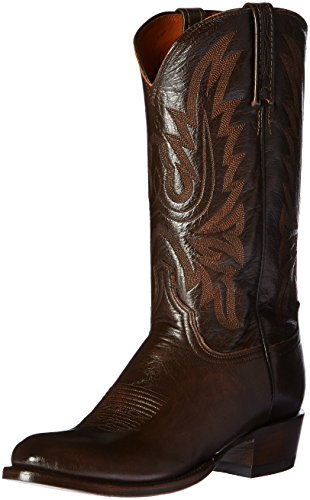 Lucchese Bootmaker Men's Carson-ant Walnut Lonestar Calf Cowbo Riding Boot, Antique, 13 D US