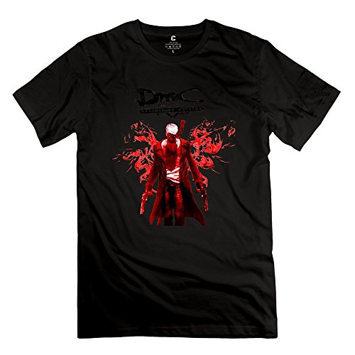 Create Your Own Men's Tshirts Funny Devil Kat Dante May Cry DmC Size M Black