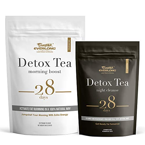 Detox Tea 28 Day Ultimate Teatox – Burn Fat and Boost Your Energy, Colon Cleanse and Flat Belly, Activate Immune System…