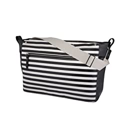 DwellStudio for Thermos, Sullivan Messenger Diaper Bag, Mini Stripe