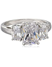 Charles Winston, S Silver, Cubic Zirconia Trinity Ring, with Charles Winston Scintillant Cut™  Octagon Shape CZ's, 4.50 ct. tw., Size 7