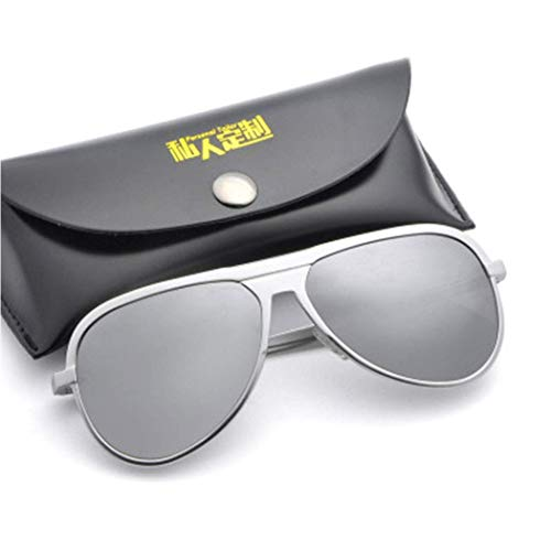 Yuany Aluminum Magnesium Frame Colorful Sunglasses Polarized Men and Women Sunglasses Ultra Light Glasses Full Frame Gift Box ()
