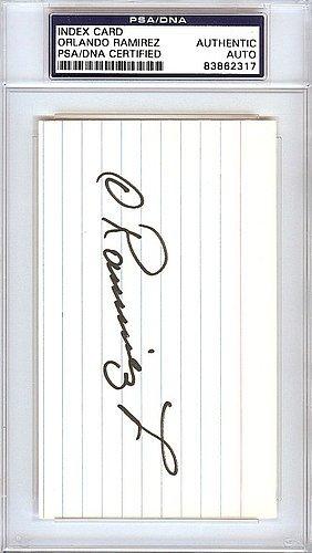 orlando ramirez signed 3x5 index trading card california angels