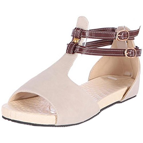 COOLCEPT Damen Open Toe Flach Sandalen