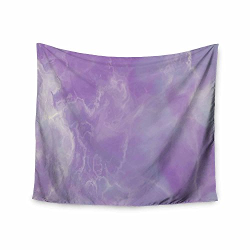 KESS InHouse Chelsea Victoria Unicorn Marble Purple Blue Abstract Pattern Watercolor Mixed Media Wall Tapestry