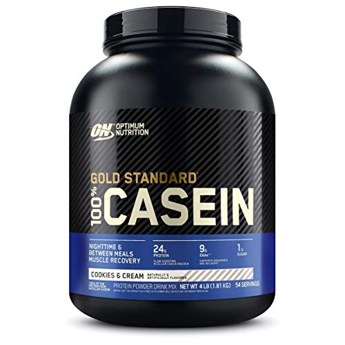 Optimum Nutrition Gold Standard 100% Casein Cookies & Cream, 4 lb, Packaging May Vary