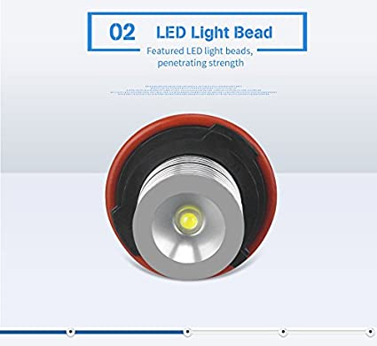 2Pcs White BMW Angel Eyes Halo Ring Marker Light Bulb CREE Led Headlight 5W 6000K 720Lm for BMW 1 5 6 7 Series X3 X5 Fit E39 E53 E60 E63 E64 E65 E66 E83 E87