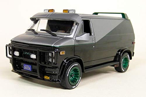 The A-Team BA/'s 1983 GMC Vandura Van Diecast Car 1:64 Greenlight 3 inch
