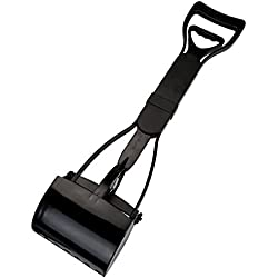 CozyCabin Dog Pooper Scooper Pickup Tool Dog Waste Scoop Sanitary Shovel - Great in Grass, gravel, Snow, Dirt, Cement (Black)